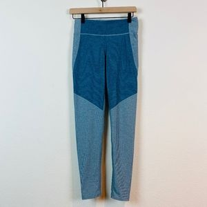 Outdoor Voices TechSweat 7/8 Two Tone Legging Blue
